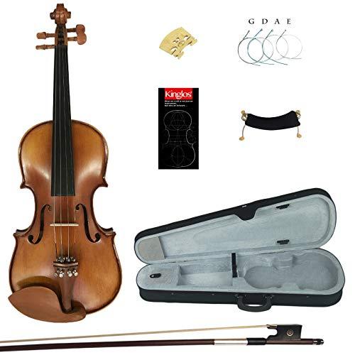 Kinglos 4/4 Fatto a Mano In Legno Massello Alunno Acustico Violino Kit - YWA1005