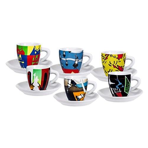 Bialetti Y0TZ013 Multicolore Universale 6pezzo(i) Bicchiere e Tazza