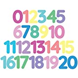 StikArt 3-inch Removable Peel & Stick Numbers 0-20 Wall Decals (Assorted Pastel Colors)