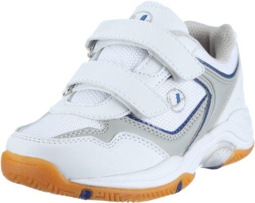 Ultrasport Sport Indoor Schuh,10069, Unisex-Kinder Sportschuhe - Indoor, Weiss (White/blue 100), EU 33