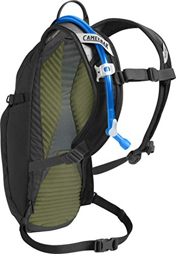 CamelBak M.U.L.E 100 Ounce Magnetic Tube Trap Mountain Biking Hydration Pack Easy Refilling Hydration Backpack 20 Percent More Water Per Sip