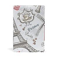 ブックカバー 文庫 a5 本 カバー 革 レザー 旅行 エッフェル塔 おしゃれ かわいい 文庫本カバー ファイル 資料 収納入れ オフィス用品 読書 雑貨 プレゼント