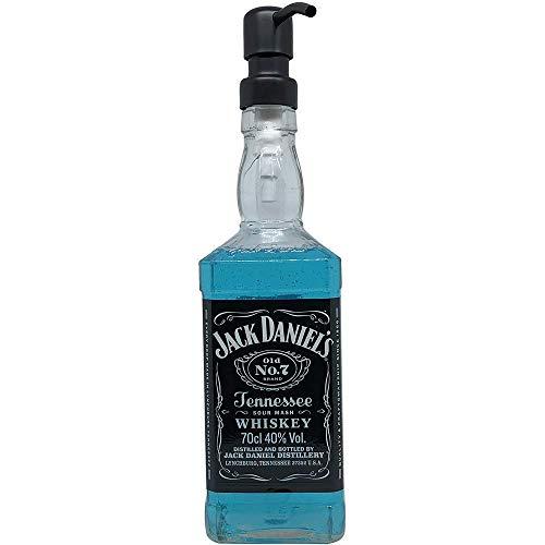 Dekoflasche - Dekospender Daniel - Jacky Seifenspender aus Whiskey-Flasche - origineller Flaschenspender mit Pumpknopf I Dekospender mit Flüssigseife modern I Seifenwasser Seifenschaum