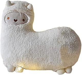 Crazy Genie Llama Alpaca Hug Plush Pillow Cushion Soft Toy Doll Furnishing Gift (white)