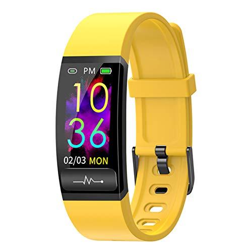 QKA Pulsera Inteligente, Medición De La Presión Arterial De ECG De PPG, con Monitor De Frecuencia Cardíaca, Reloj Inteligente, Actividad De Fitness De Actividad, Pulsera,D