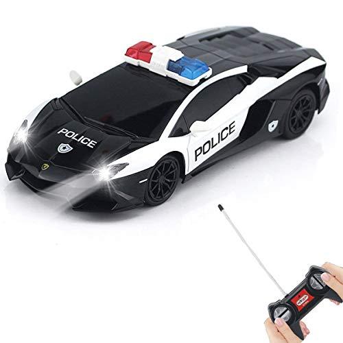 QUN FENG Polizeiauto Ferngesteuertes RC Auto 1:24 Kompatibel für Lamborghini Police RC Cars Spielzeug Funksteuerung Rennwagen Fahrzeug Große Spielzeug für alle Erwachsenen und Kinder
