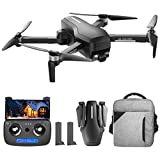 Daily Accessories Drone with 4K HD Camera 5G Wifi FPV Drone 0 110 deg ESC Camera GPS Drones for Adults 3 Axis Anti Shake Gimbal Brushless Motor Compatible VR Glasses 2 Battery