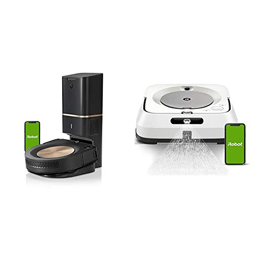 iRobot Roomba s9+ Robot Vacuum with Automatic Dirt Disposal- Wi-Fi Connected, Smart Mapping, Powerful Suction & Braava jet m6 Ultimate Robot Mop- Wi-Fi Connected, Precision Jet Spray, Smart Mapping