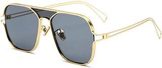ZJMIYJサングラスサングラスサングラス女性男性合金フレームサングラス眼鏡グレー