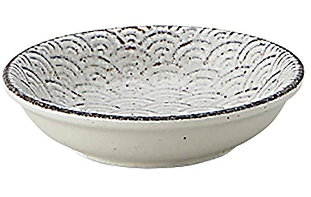 プール配送短くする光洋陶器 古代粉引き 浅ボウル 8cm 青海波 52283017