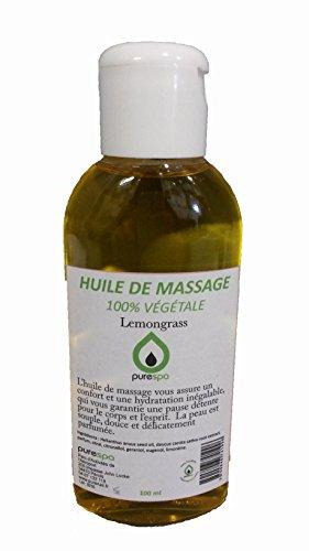 Huile de massage végétale parfum Lemongrass - 100ml Purespa by Purenail Livraison Gratuite en France