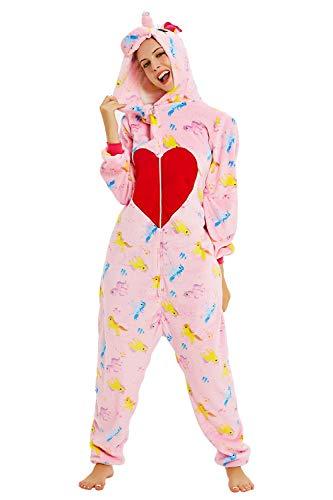 Unisex Frauen Onesies Pyjama Einhorn Tier Weich Fleece Flanell Home Wear One Piece...