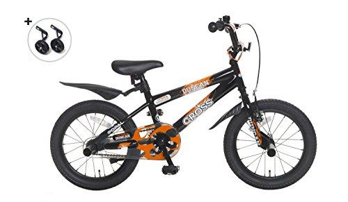 Popal Duncan kinderfiets in 12 en 16 inch voor jongens in Oranje en Zwart