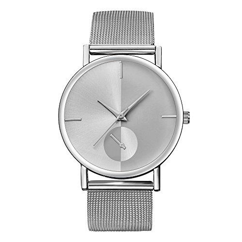 Farantasy腕時計レディースファッションクラシックゴールドクォーツステンレスメッシュベルトスチール腕時計
