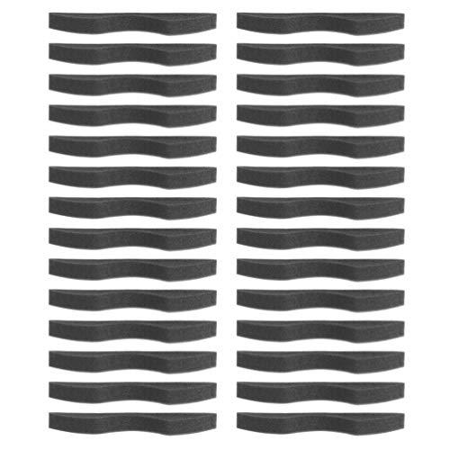 MILISTEN 200pcs Sponge Nose Bridge Strips Anti Fog Nose Bridge Pads Self-Adhesive Nose Protective Strip for Craft DIY Making Accessories (Black)