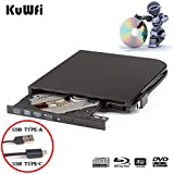 External Blu Ray DVD Drive Burner Player USB3.0 Type-C Dual interfaces Portable Slim