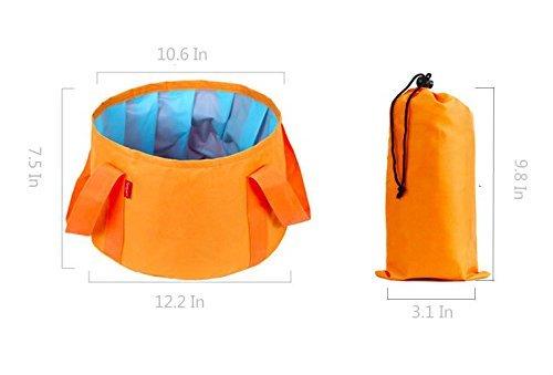 homeself 15L plegable fregadero portátil Camping cubo plegable con funda de transporte,...