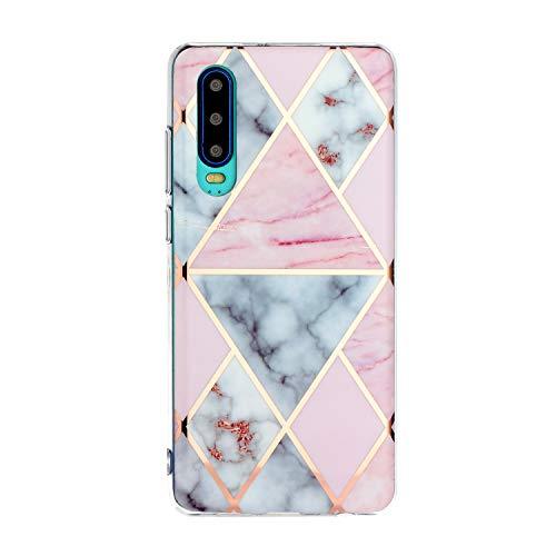 Slim Dünn Soft Hülle für Huawei P30,Durchsichtig 3D Bling Glitzer Diamant Glanz Sparkle Silikon Gel TPU Gummi Crystal Kristal Weich Flexible Bumper