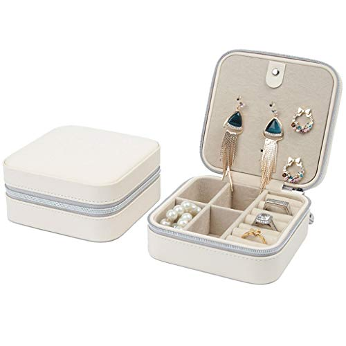 ZANZAN Caja Joyero Caja De Joyería Portátil Viajes Joyería Mostrar Caja De Almacenamiento Anillos Pendientes Collar Pequeño Joyería Organizador Caja Cajas de joyería (Color : Jewelry Box A)