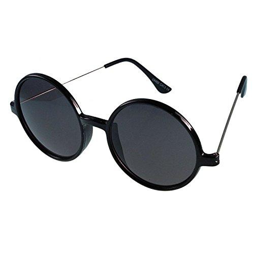 Zonnebril John Lennon stijl bril Nerd zwart 400 UV ronde bril unisex