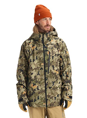Burton Mens Ak Gore-Tex Cyclic Jacket, Keef Shelter Camo, Medium
