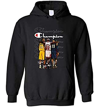 Kobe B-ry-ant Michael Jo-r-dan and Le-Bron James signatures 1978-2020-Thank You for All Beautiful Memories for Hoodies Black