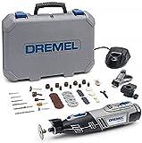 Dremel 8220 Multiherramienta Inalámbrica a Batería Li-ion (12V 1,3Ah) - Kit con 2 Complementos, 45...