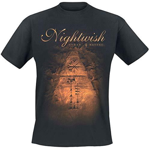 Nightwish Human. :||: Nature. Hombre Camiseta Negro M, 100% algodón, Regular
