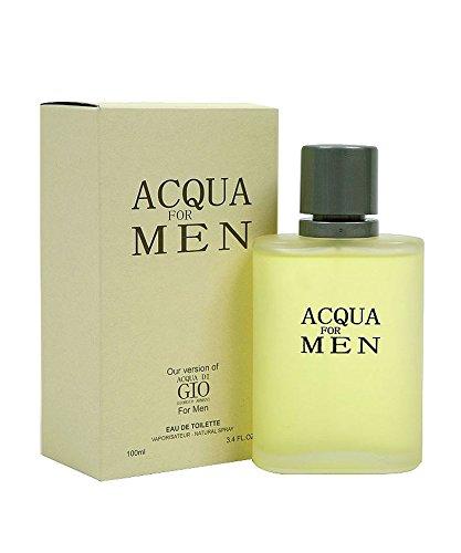 Acqua For Men EDT Cologne 3.4 oz Spray Our Impression Version of Acqua Di Gio