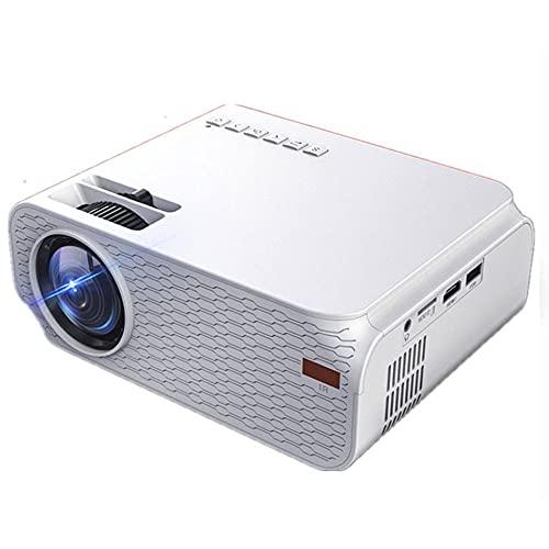 Proyector, Proyector Móvil Portátil, Compatible con 1080p Full HD, Niños, Recargable, Compatible con USB/HDMI/SD/AV