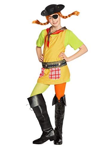 Maskworld Pippi Langstrumpf in Taka-Tuka-Land Piraten-Set (4teilig) für Kinder - Piratenhut, Augenklappe, Gürtel & Halstuch - Kostüm - Verkleidung für Karneval, Fasching & Motto-Party
