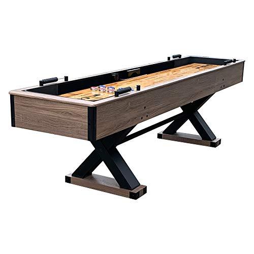 Hathaway Excalibur 9' Shuffleboard Table, Black, Driftwood (BG50356)