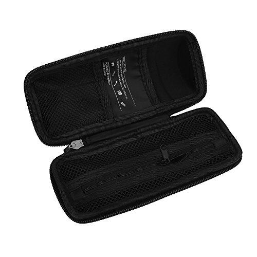 Bolsa de bicicleta impermeable portátil, 18 * 7.5 cm bolsa de plástico a prueba de agua de metal de bicicleta hecho para el ciclismo de mantenimiento de la caja del paquete (negro)