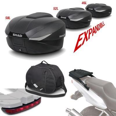 Sh58boluhe20 - fitting kit + suitcase back trunk + inner bag + brake light gift sh58 compatible with ktm duke 125/390 17 ktm duke 390 2017-2017 ktm duke 200 2017-2017 ktm duke 125 2017-2017