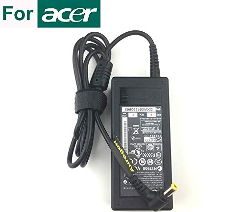 (_Click on the right: See All ..._) Genuine Laptop Charger Power AC Adapter Charger Suitable for ACER EMACHINES E627 E720 E725 G420 G520 65W
