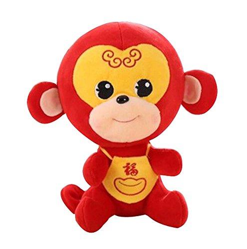 Dragon Troops Red Monkey Lovely Plush Puppet Classic Pet Poupées Oreillers décoratifs, 20CM