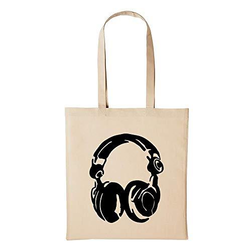 Hellweg Druckerei Baumwolltasche Jutebeutel Bedruckt Kopfhörer DJ Headphones DJANE
