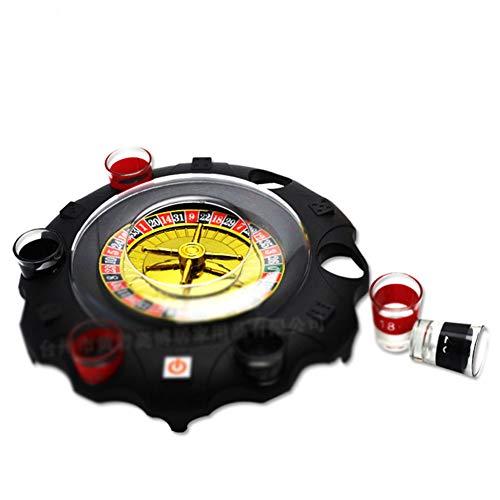 Dongbin Roulette-Tisch Roulette-Rad Set Holzplattenspieler Roulette-Rad Set Spaß Freizeit Unterhaltung Tischspiele Erwachsene Kinder Zeichnen Drehscheibe-KTV Bar Nachtclub Elektro