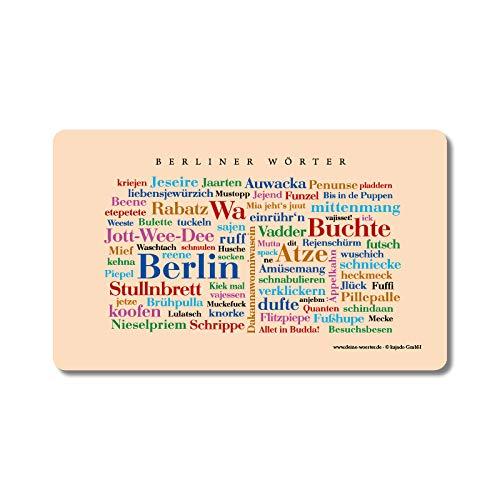 Frühstücksbrettchen Berliner Wörter, Schneidebrett mit Mundart aus dem Berlin - Eine schöne Geschenkidee