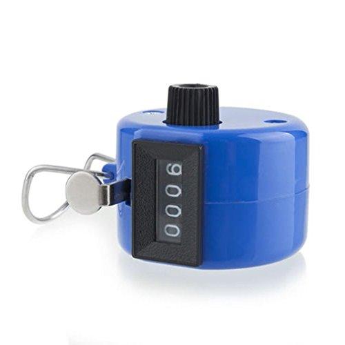 Handheld Golf Tally Click Counter 4 Contador mecánico Manual Cromado Digital (Azul Oscuro)