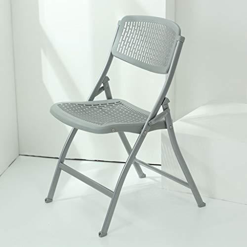 KKCD-Klappstuhl Tragbare Klappstühle - Büro-Ausstellungs-Vermietung Aushöhlen Zurück Faltbarer Computer-Stuhl-Ausbildungs-Hocker-Stuhl (Farbe : Gray)