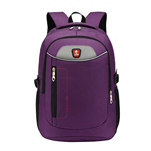 School Laptop Backpack Large Travel Computer Backpack Hiking Business College Daypack (Purple)