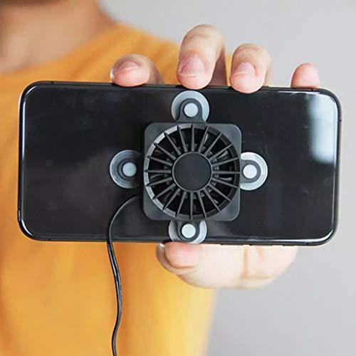 JJYPY Teléfono Fan de refrigeración Portátil Teléfono móvil USB Ventilador de enfriamiento de succión Radiador del teléfono móvil
