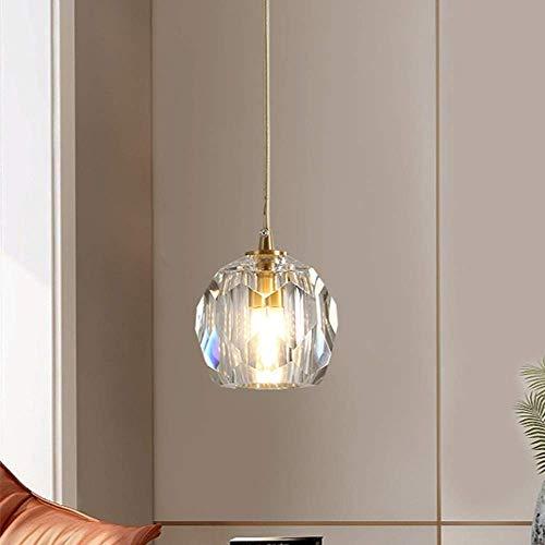 Lámpara De Techo De Araña De Cristal Moderno Lámpara De Techo Lámpara Colgante para Baño Baño De Dormitorio Comedor Y Sala De Estar Barra De Pasillo(Color:1Light10cm)