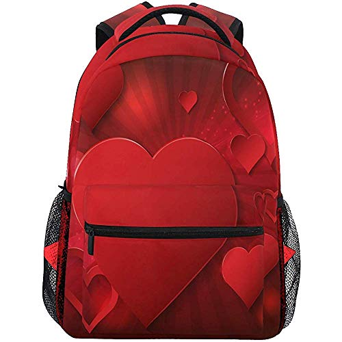 Scuola San Valentino Brilla en hart rugzakken Teens tas met schouderriem voor dames