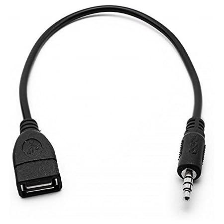 Xjoel 3 5 Mm Stecker Aux Audio Plug Jack Zu Usb 2 0 Buchse Konverter Kabel Schnur Auto Mp3 Gewerbe Industrie Wissenschaft