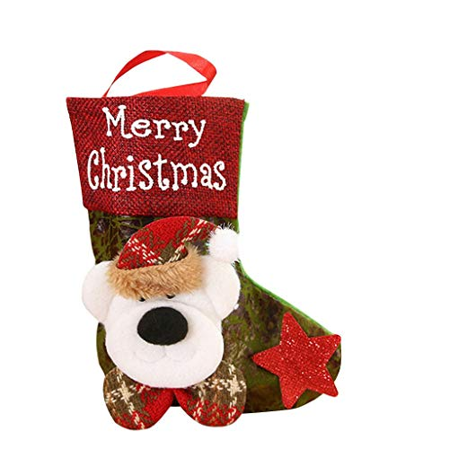 poundy bags Christmas Socks Candy Beads Christmas Santa Claus Snowman Socks Decorations for Family Kids