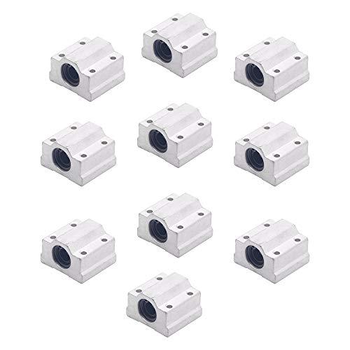 Iycorish 10 Teile/Los Sc8Uu Scs8Uu Block 3D Drucker Teil 8 Mm Linear Kugel Lager Block CNC Router Kugel Lager Sc8Uu Scs8Uu