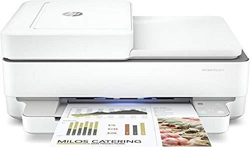 HP Envy Pro 6420, 5SE45B Stampante Multifunzione a Getto di Inchiostro, Stampa, Scansiona, Foto, Fax, Wi-Fi Dual-Band, USB 2.0, A4, HP Smart, 6 mesi di Instant Ink inclusi nel prezzo, Bianca