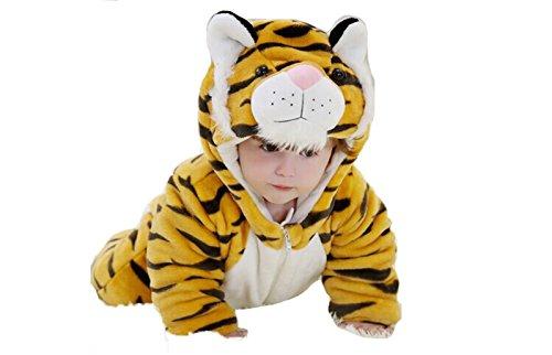 OHmais Bébé Fille garçon Unisexe Grenouillère Costume Deguisement Combinaison Pyjamas Hiver Tigre